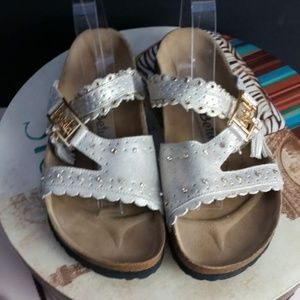 Gold Betula Birkenstock Sandals